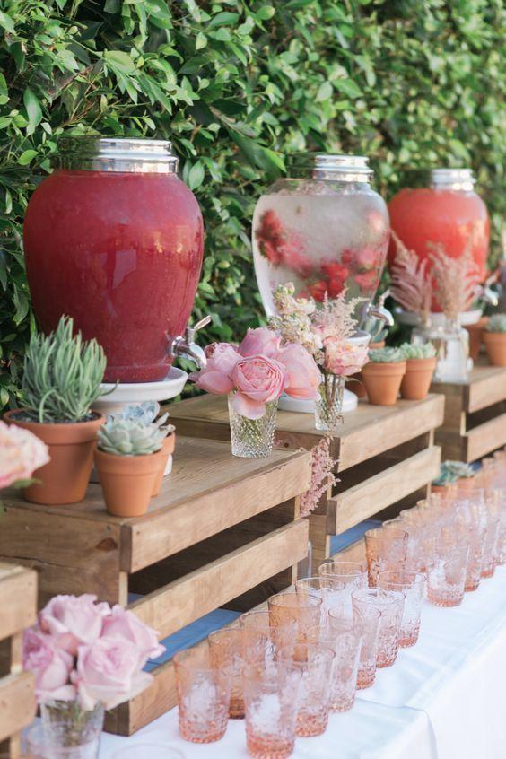Country Hochzeit Drink Station Dekor  erpearlflow