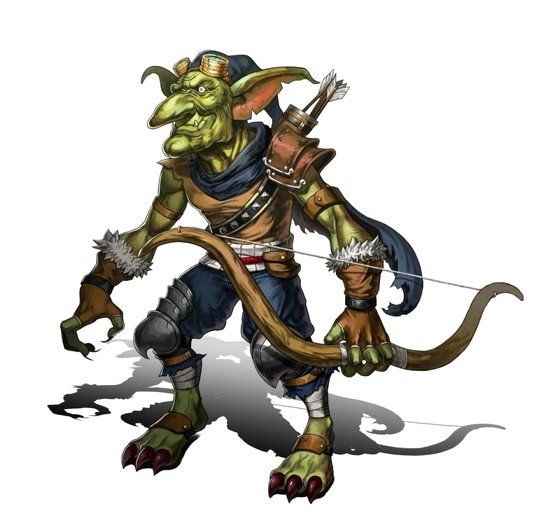 male goblin archer pathfinder pfrpg dnd d d 3 5 5th ed d20 fantasy