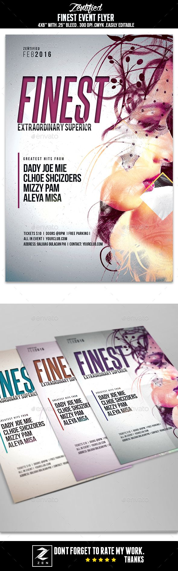 Finest Event Flyer Template PSD. Download here: http://graphicriver ...
