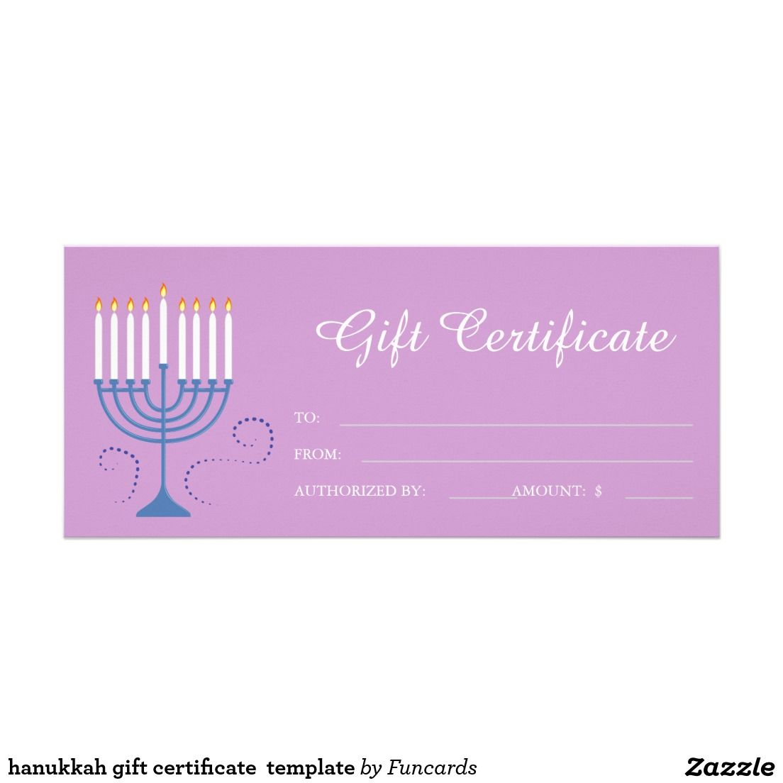 Hanukkah gift certificate template gifts for her pinterest hanukkah gift certificate template xflitez Gallery