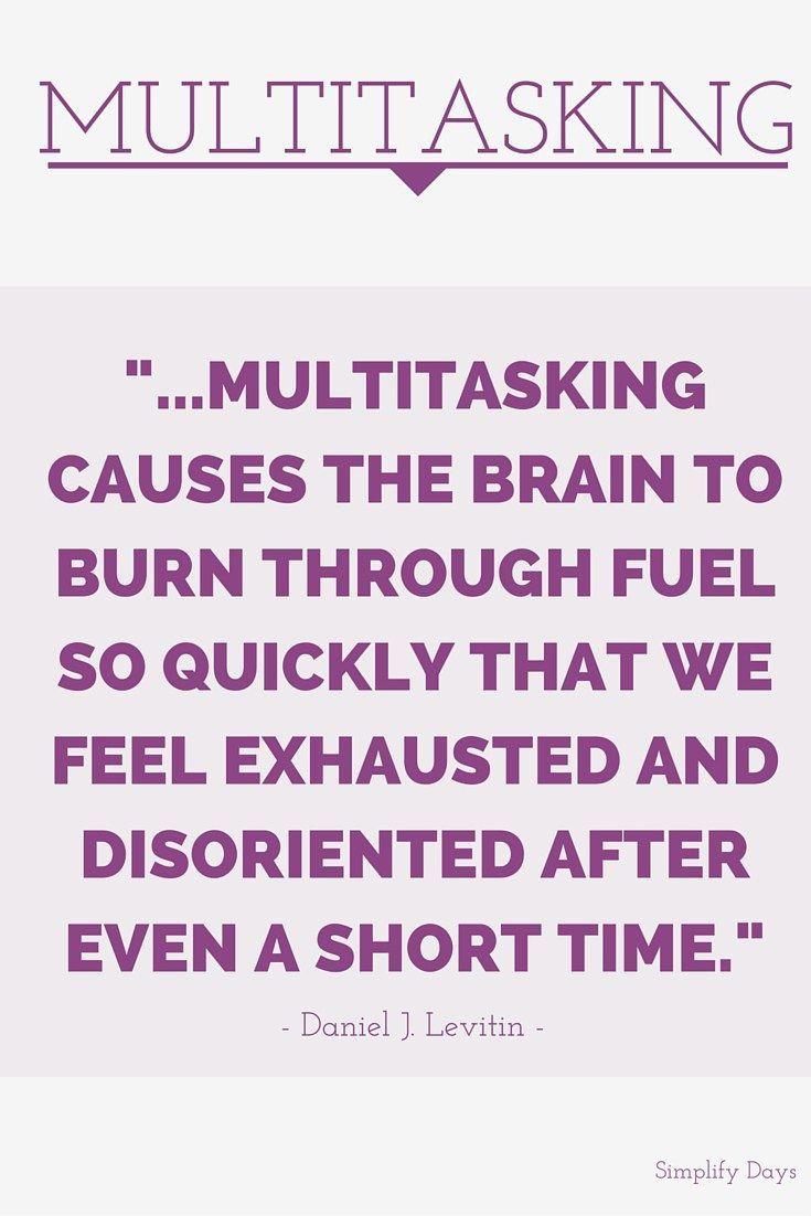 the dangers of multitasking