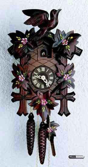 Cuckoo clock 1 day movement carved style 23cm by hekas for Savio 724 ex manuale
