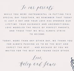How To Write A Thank You Letter Your Pas And Wedding
