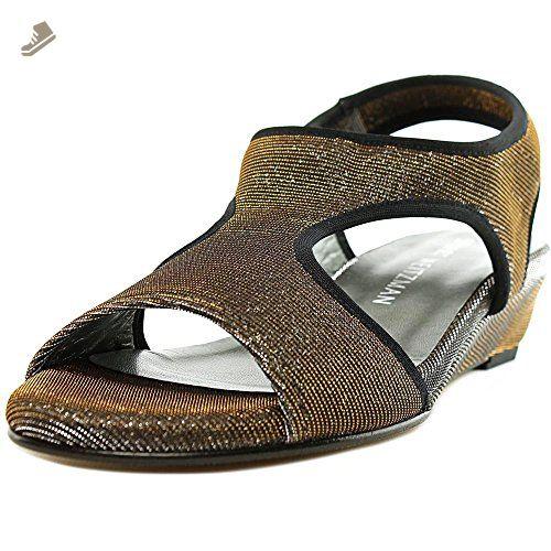 Stuart Weitzman Nugiver Women US 6 Gold Slingback Sandal