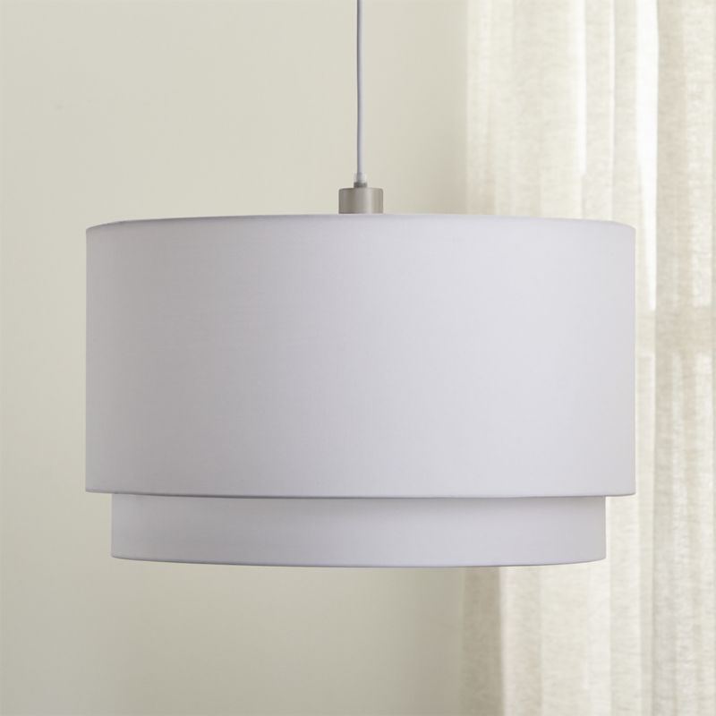 Illuminating Kitchen Lighting: Meryl Double Drum Pendant Light