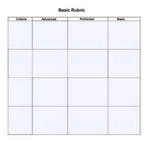Free Blank Rubric Template Word Bing Images