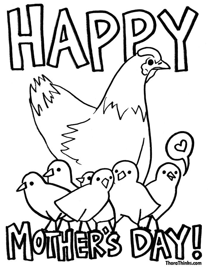 10 FREE Mothers day Coloring Pages Hens Happy mothers and