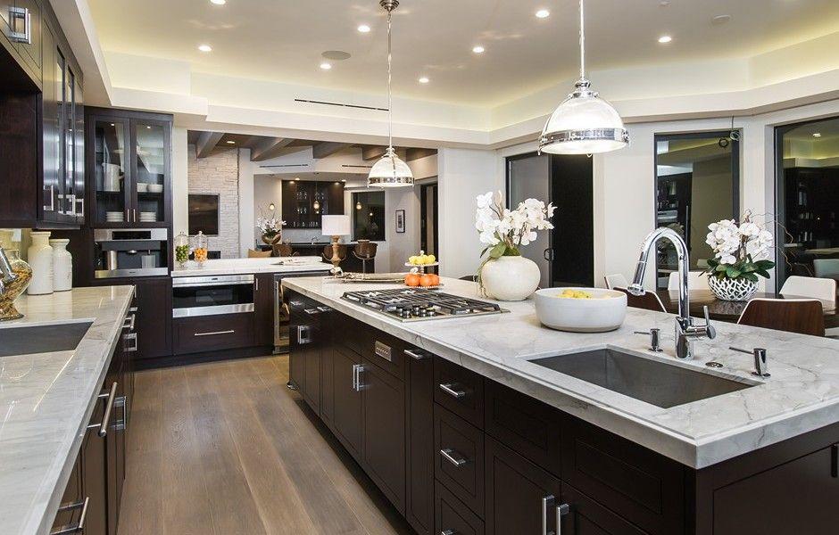 534 Crestline Modern Open Space Mansion Mansion Kitchen Luxury