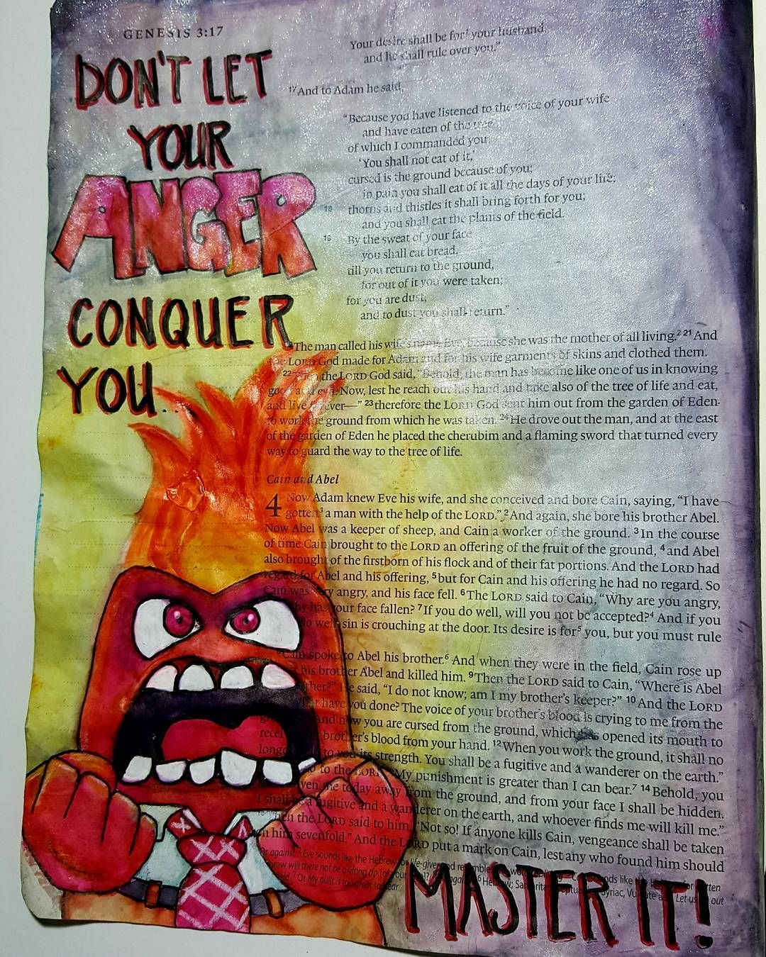 Taken from the story of Cain and Abel. If we let our anger rule us ...