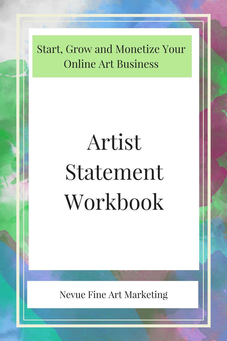 Artist statement workbook art business sell art prints