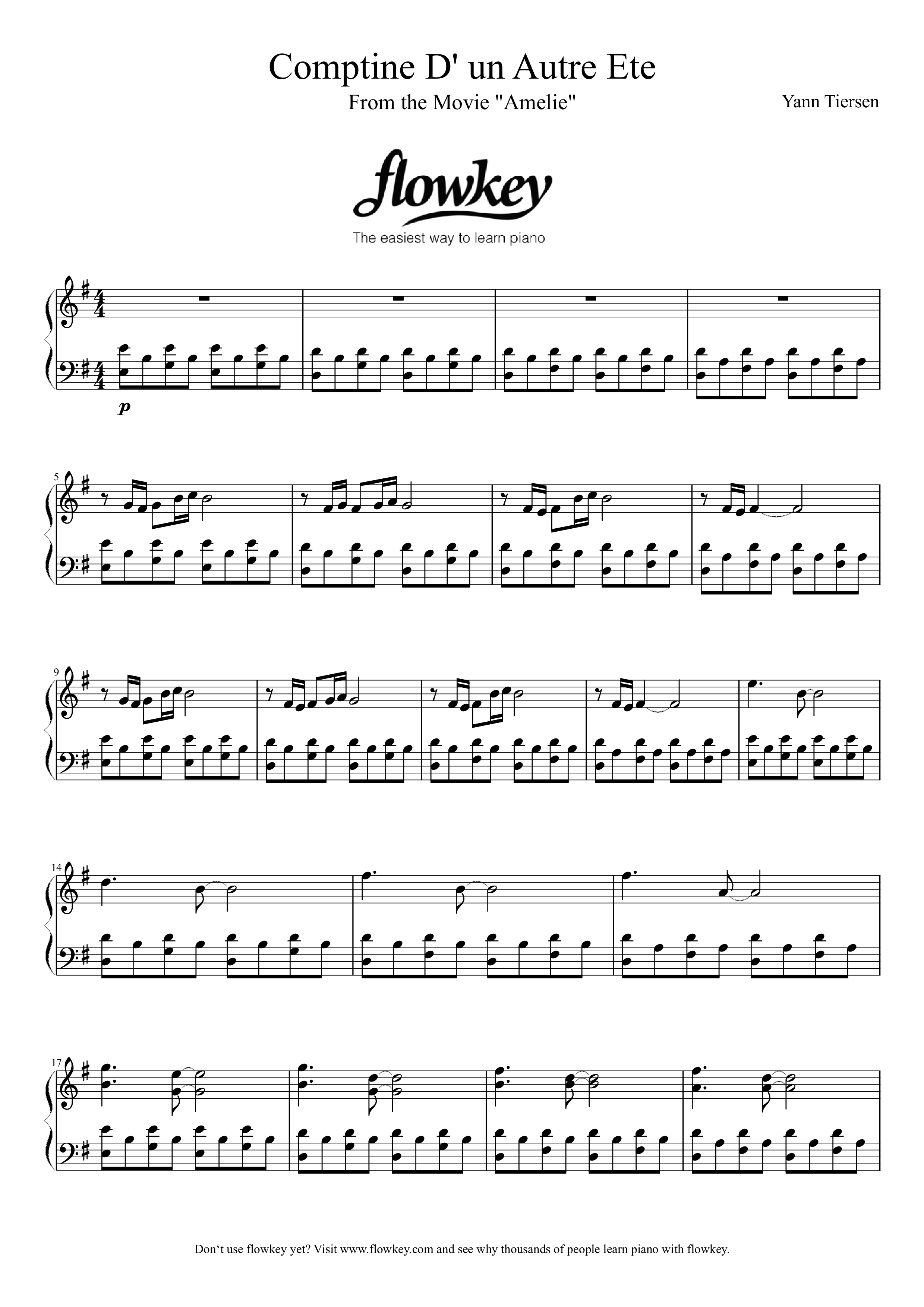 Comptine D Un Autre été Guitar Chords Yann Tiersen Comptine D Un Autre Ete Aka Amelie Theme Free
