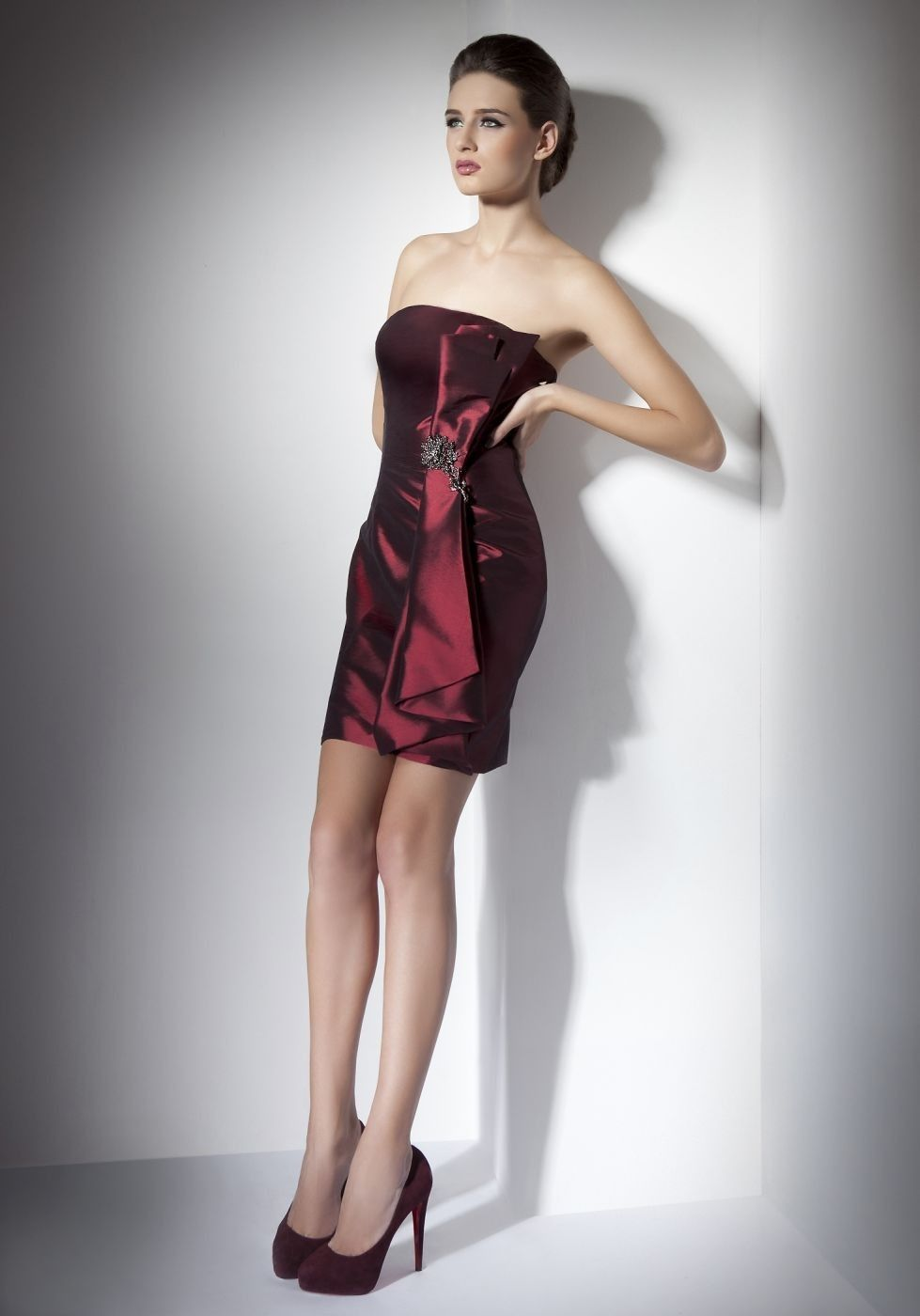 Thigh Length Wedding Dress