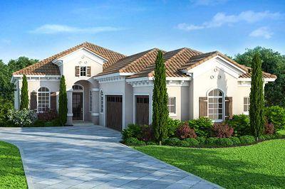 Narrow Lot Mediterranean House Plan