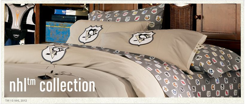NHL™ Bedding, Ice Hockey Bedding U0026 Hockey Bed Sheets | PBteen
