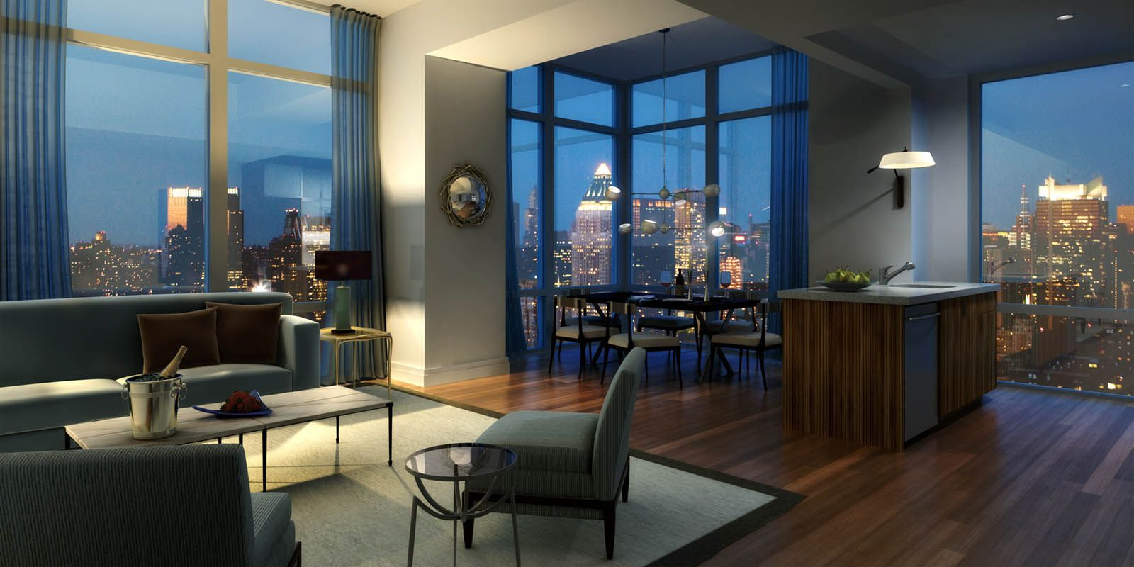 nyc floor to ceiling windows | Nyc apartment luxury