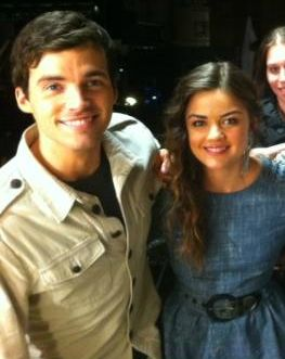 Ian Harding and Lucy Hale #ezria <3