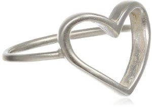 Dogeared Charmed Sterling Silver Large Heart Ring