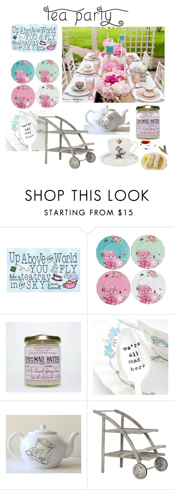 """Mad Tea Party"" by shanon-weedman ❤ liked on Polyvore featuring interior, interiors, interior design, home, home decor, interior decorating, Royal Albert and teaparty"