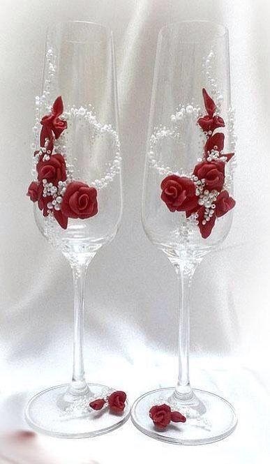 Copas para el brindis de los novios boda pinterest for Copas de champagne