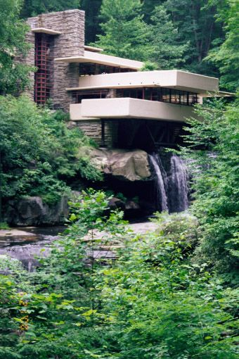 Frank Lloyd Wright's Fallingwater, located in Fayette County, PA