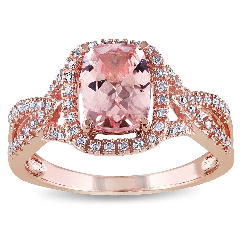 Le Vian Peach Morganite (1-3/4 ct. t.w.) and Diamond (3/4 ct. t.w. ...