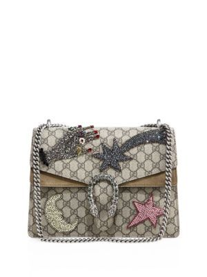 401f68e4075 GUCCI Dionysus Medium Gg Supreme Sequin-Embroidered Shooting Star Bag.   gucci  bags  shoulder bags  hand bags  canvas  suede  lining