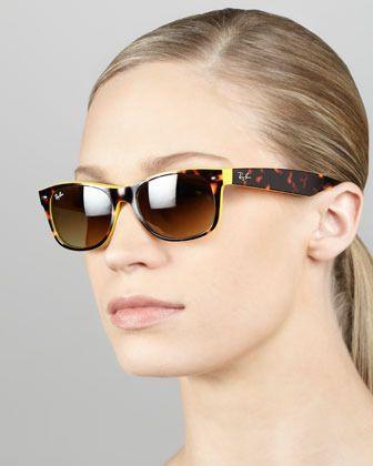 fbd8fd33e2f2 Ray-Ban Two-Tone Wayfarer Sunglasses, Tortoise/Yellow on shopstyle.com