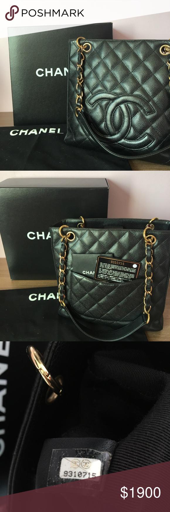 5f6af0b8fa0e CHANEL Black Caviar Leather CLASSIC Tote Bag Chanel Petite Tote in Black  Caviar with Gold Hardware