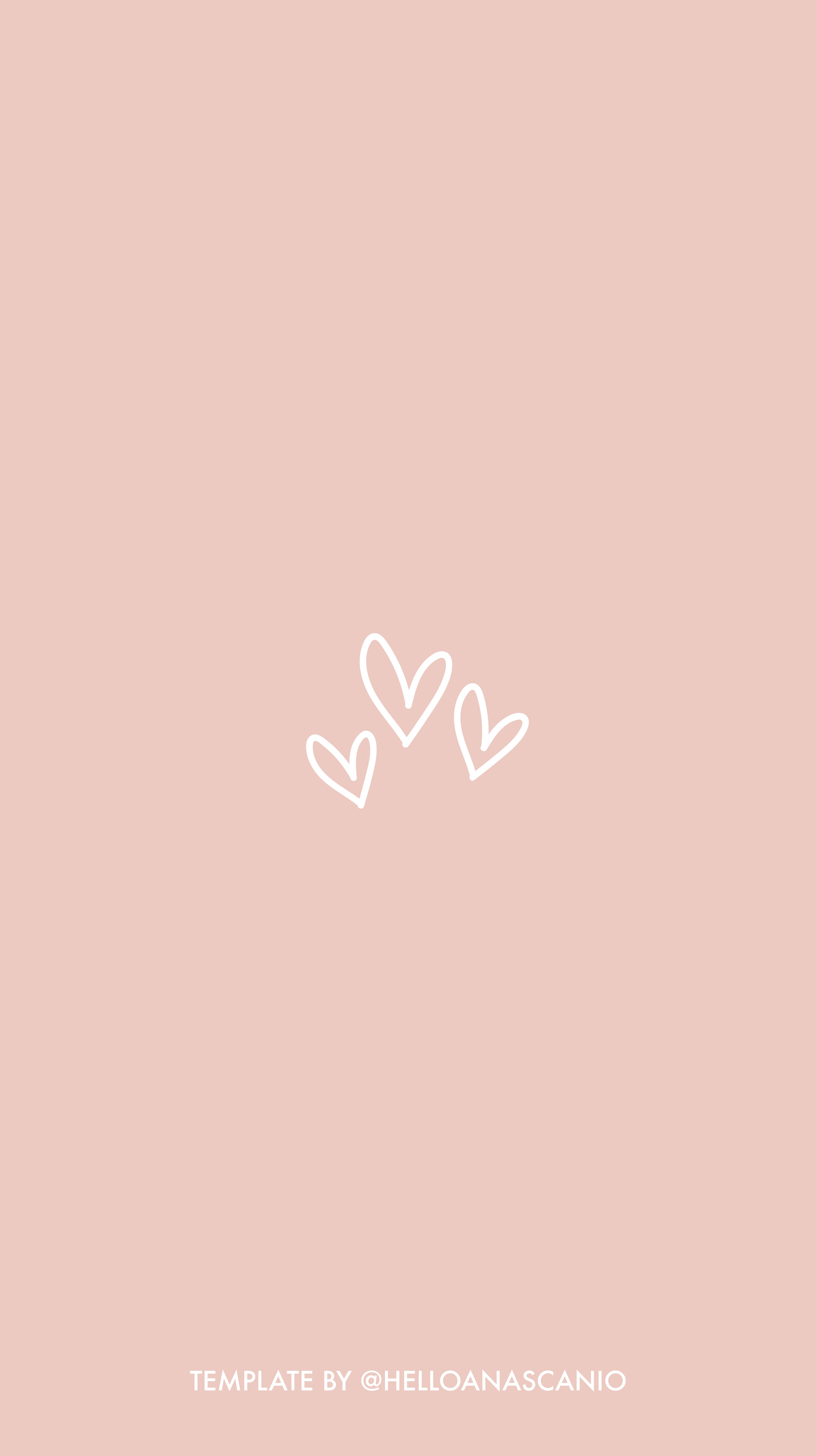 Love hearts template for Instagram Highlights Stories by