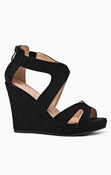 Sandaly Casablanca Lm 1011 Czarny Shoes Fashion Wedges