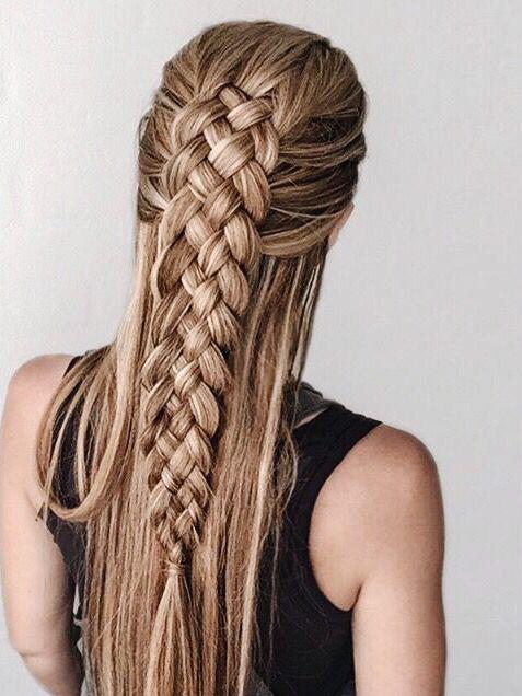 Double Braid Pinterest Luxultrav Ig Luxuriousultraviolet Luxuriousultraviolet Com Long Hair Styles Hair Styles Hairstyle