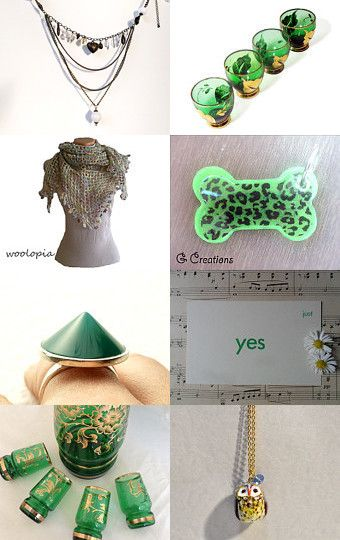 Gifts? Yes, please!  by Maria and  Mimi on Etsy #etsy #treasury #green #gifts