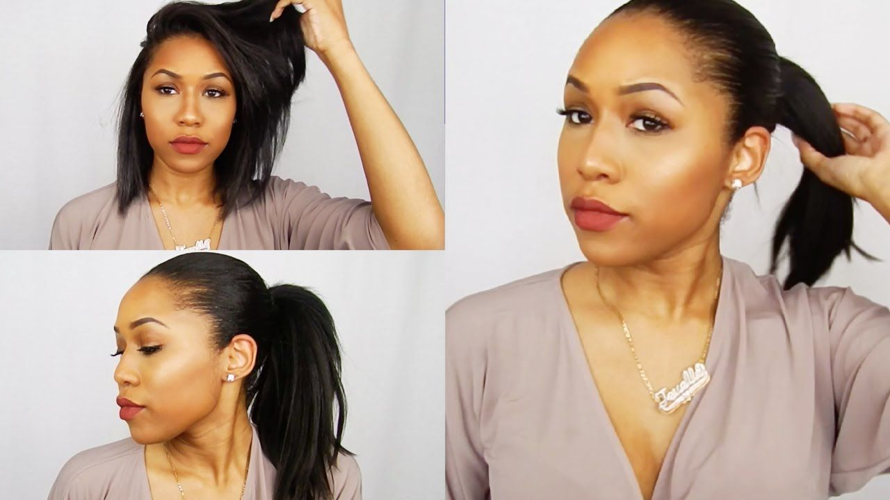 Faux High Ponytail For Short Hair Weave Ponytail Relaxed Hair