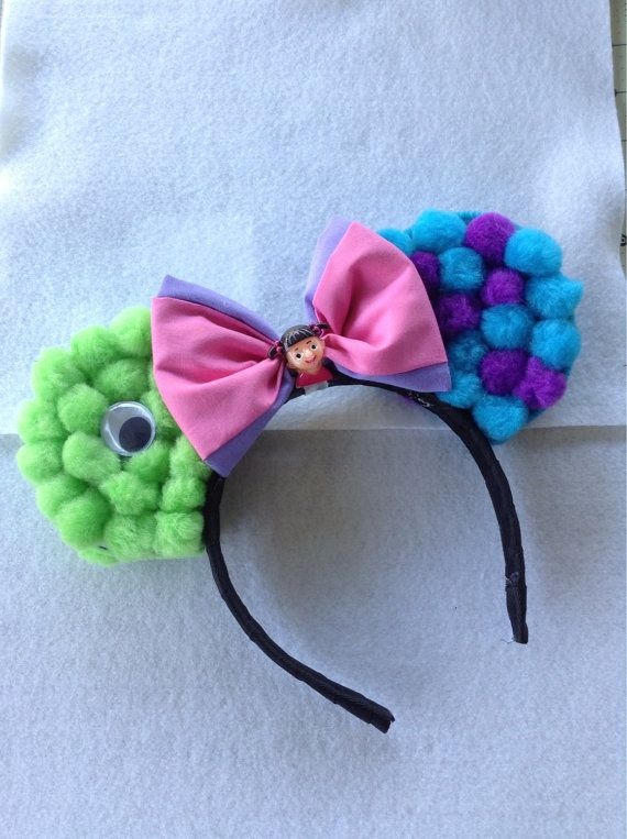 Monsters Inc inspired mouse ears by TinksTinkerHut on Etsy