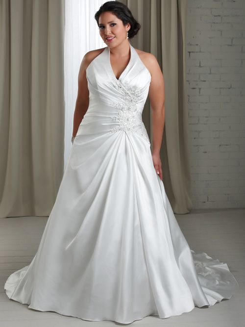 Halter Plus Size Wedding Gown PS167 | Gowns, Wedding dress and Wedding