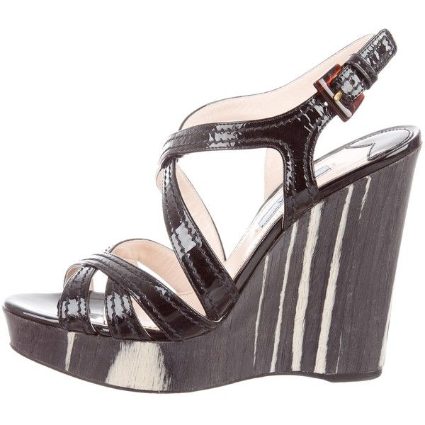 Pre-owned - Black Patent leather Sandals Prada eB8Gy