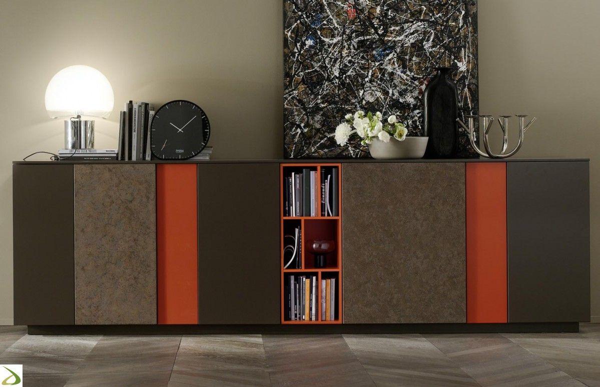 Credenza Da Design : Madia design da soggiorno in legno e cemento credenza pinterest