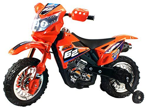 Extreme Rider Dirt Bike Childrens Kids Battery Operated Rechargeable Ride On Motorcycle W Removable Training Whee Dirt Bikes For Kids Kids Motorcycle Dirt Bike