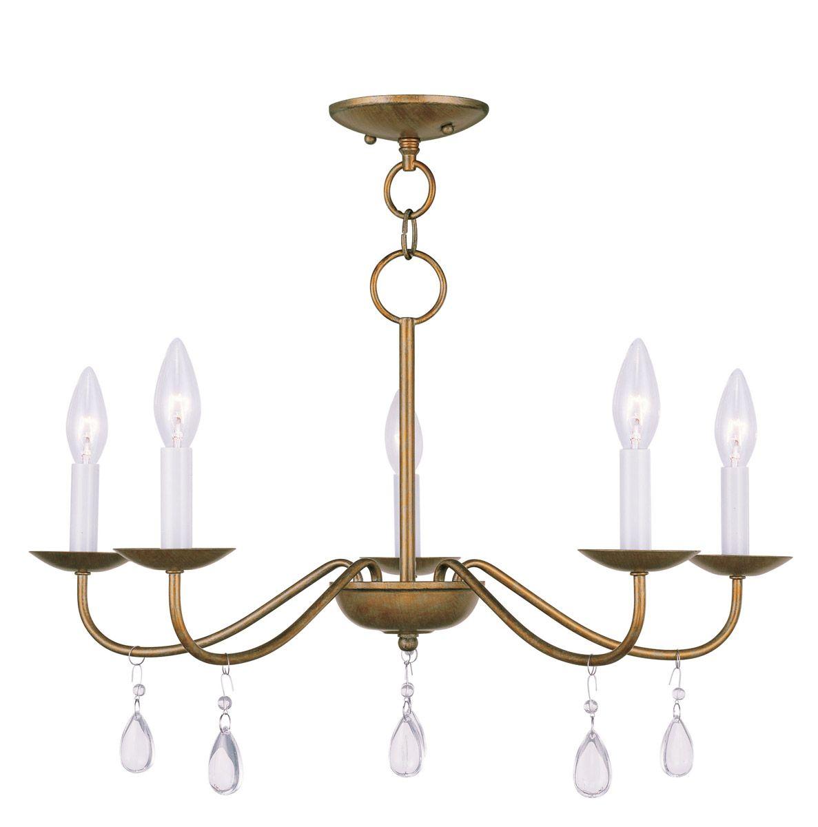 Livex 4845 48 mercer 5 light 24 inch antique gold leaf chandelier livex 4845 48 mercer 5 light 24 inch antique gold leaf chandelier ceiling light arubaitofo Images