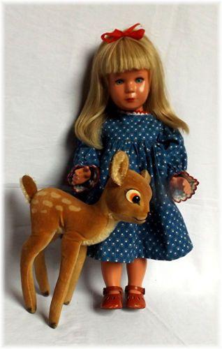 Sehr-schoene-Schildkroet-Kaethe-Kruse-Puppe-ca-40cm-Echthaar-u-Steiff-Bambie