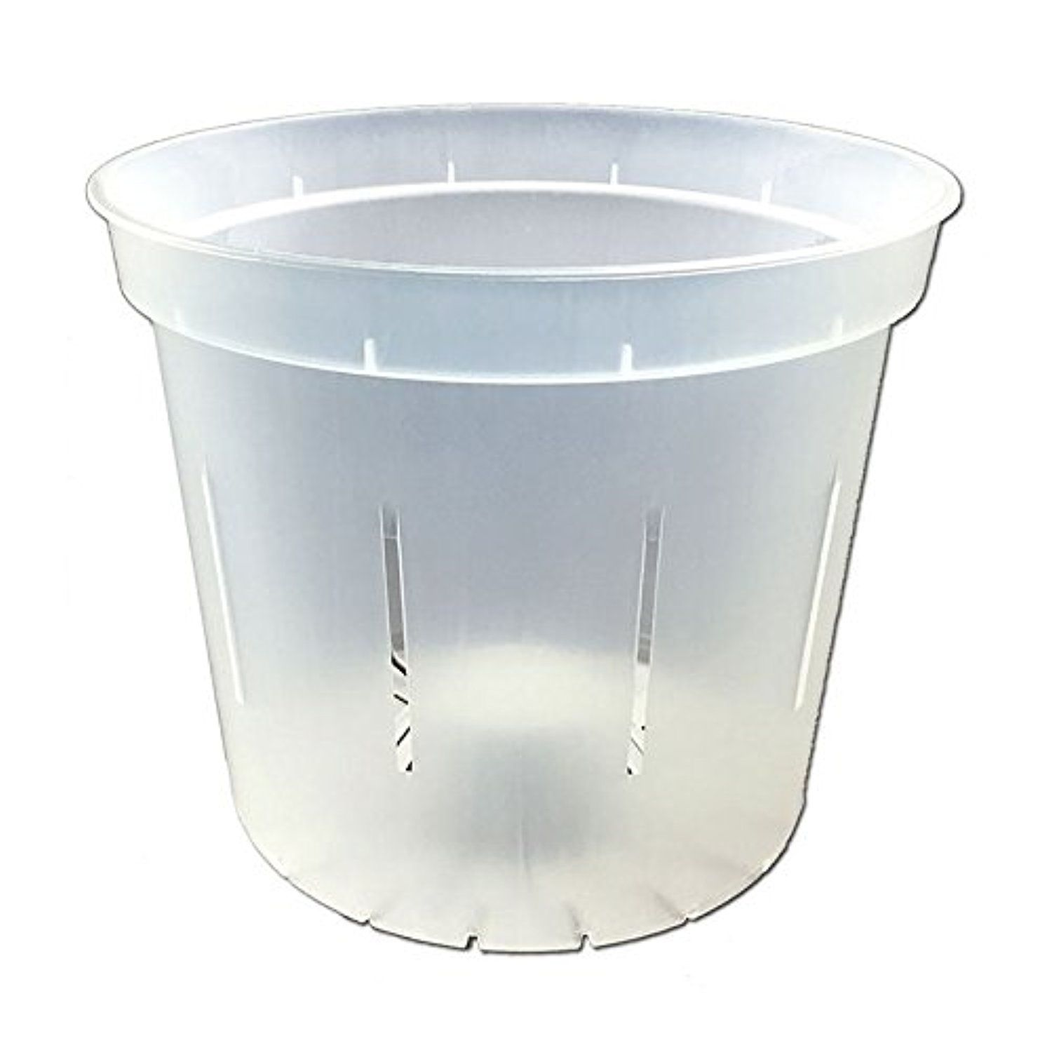 "5"" Slotted Clear Orchid Pots - 6 Pack (Crystal Clear) -- Awesome products selected by Anna Churchill"