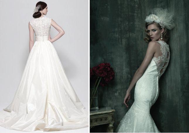Lace Back Wedding Dresses Part 1 Belle The Magazine The - Covered Back Wedding Dress