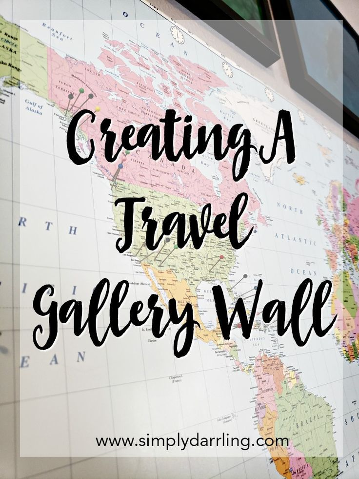 Creating a travel gallery wall with a map gallery wall display creating a travel gallery wall with a map gallery wall display and walls gumiabroncs Gallery