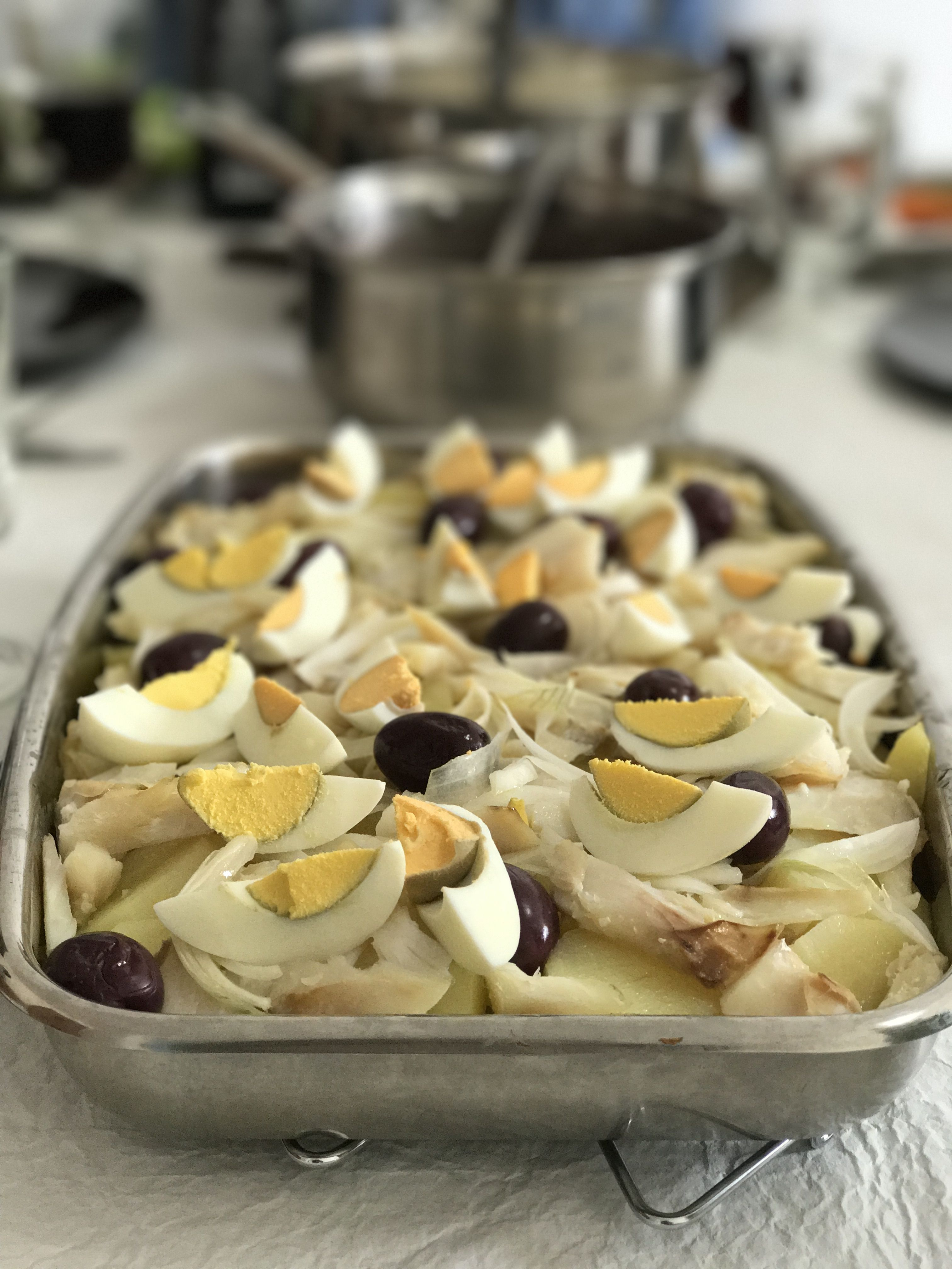 Salt cod, onions and potatoes. My mom's special recipe.🍴