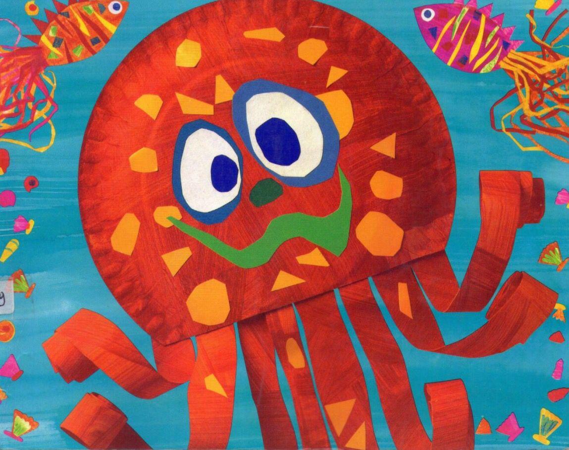 Paper plate octopus idea  sc 1 st  Pinterest & Paper plate octopus idea | Ocean ideas | Pinterest | Ocean Craft ...