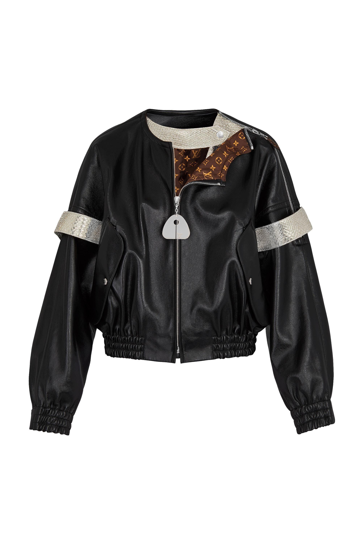Leather Bomber Jacket via Louis Vuitton