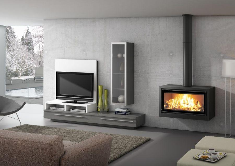 Estufa invicta sedan m estufas de le a cozy fireplace for Chimeneas metalicas precios