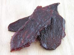 Beef Jerky!   Ingredients:  2 pounds organic beef (or any other organic meat type)  2 sliced garlic cloves  2 tablespoons soy sauce  1 tablespoons salt  2 tablespoons Worcestershire sauce  1 cup water  1 cup corn whiskey  1 teaspoon ground red pepper  Directions:  Cut meat into strips, trimming all fat.  Mix ingredients.  Coat meat, cover and refrigerate.  Place on foil on oven racks on 200 degrees with door propped open, turning once, until pliable. Enjoy!