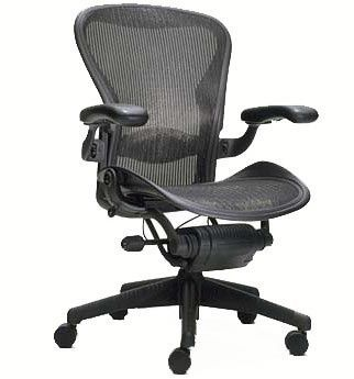 second hand herman miller aeron chairs in graphite the highly