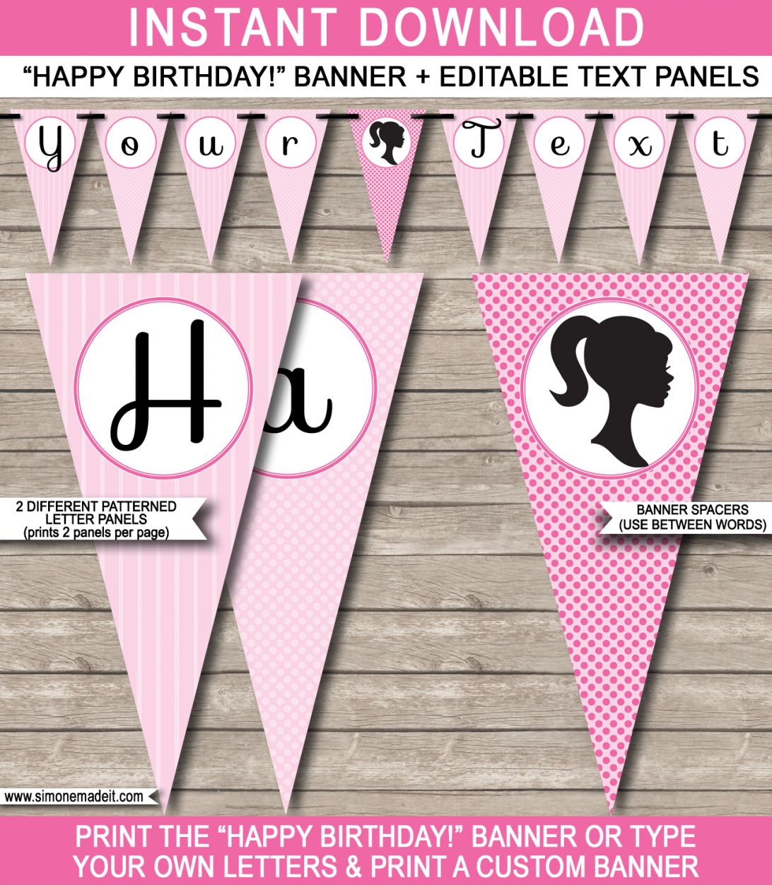 The amazing Birthday Banner Template Barbie Party Happy ...